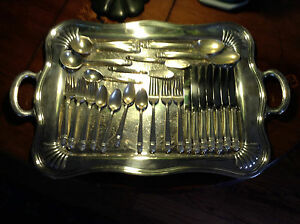 45 piece set of Danish Princess silver plated flatware