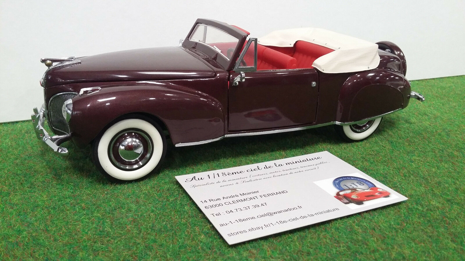 LINCOLN CONTINENTAL cabriolet 1941 1 24 FRANKLIN MINT voiture miniature collecti