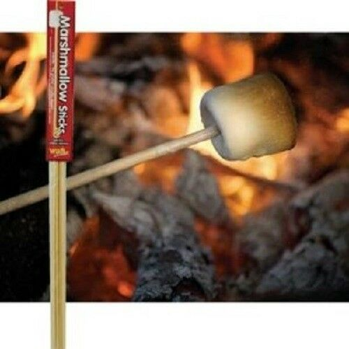 Campfire Marshmallow Roasting Sticks 48 Pack Wooden Extra Long
