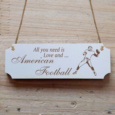 Football Ehrlich Türschild Dekoschild « American Football » Wohltuend FüR Das Sperma Sonstige
