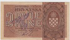 2 kune 1942 Croatia - Waffen SS division Adolf Hitler - Very rare banknote RRR !