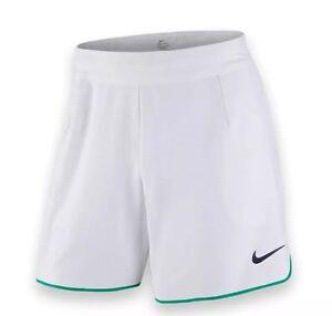 "NIKE - 7"" Gladiator Federer Dri-Fit Tennis White/Green Shorts (729399 101) XXL"