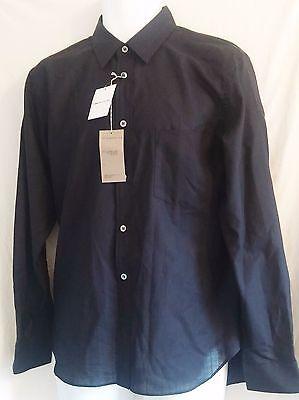 Comme des Garcons Dress Shirt Button Front Black Striped $675 Retail - Small