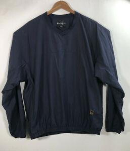FootJoy-Men-s-Size-XL-Blue-V-Neck-Wind-Breaker-Pull-Over-Golf-Jacket