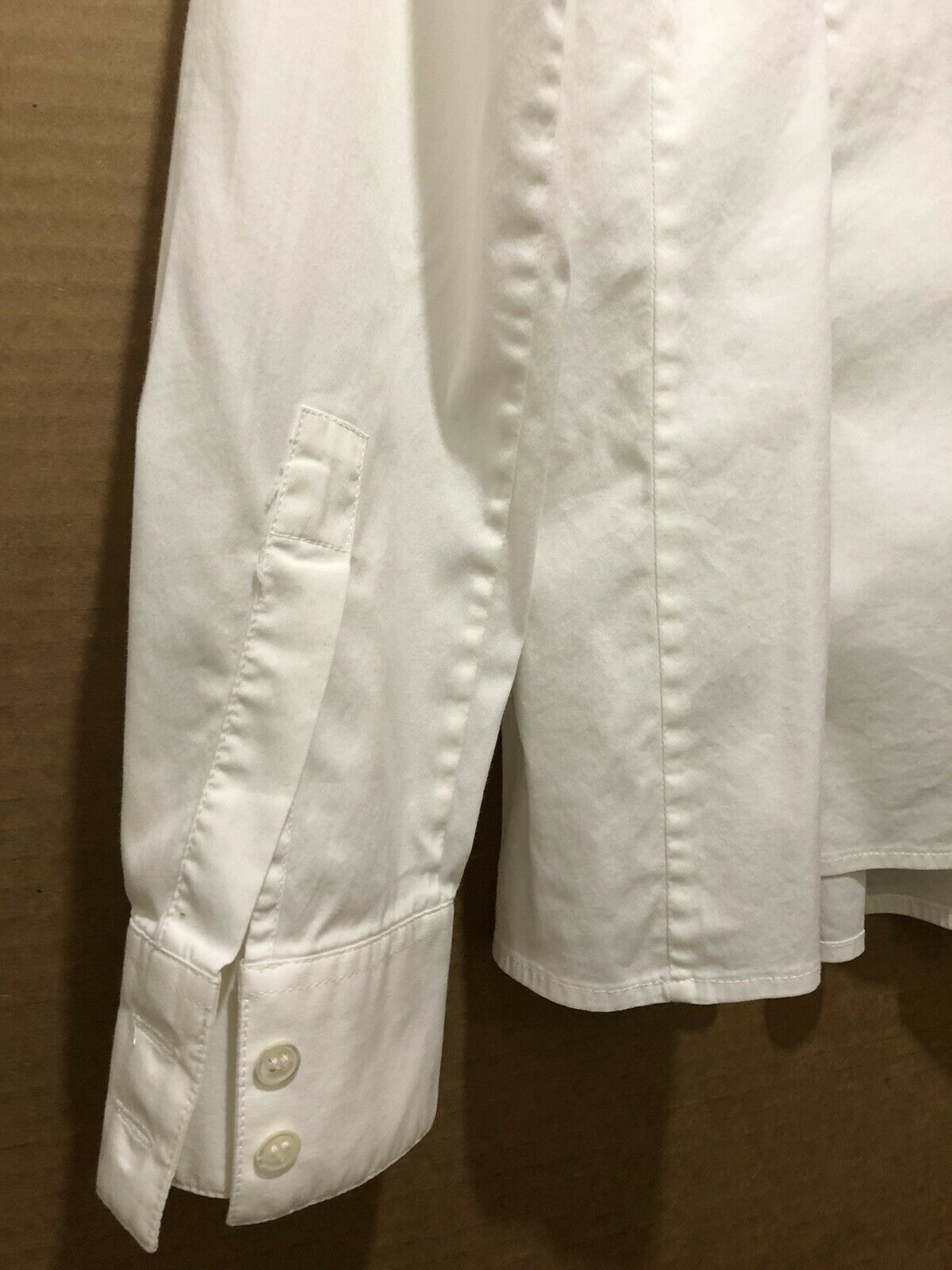 Armani Collezioni ITALY Ivory Pleated Button Up W… - image 4