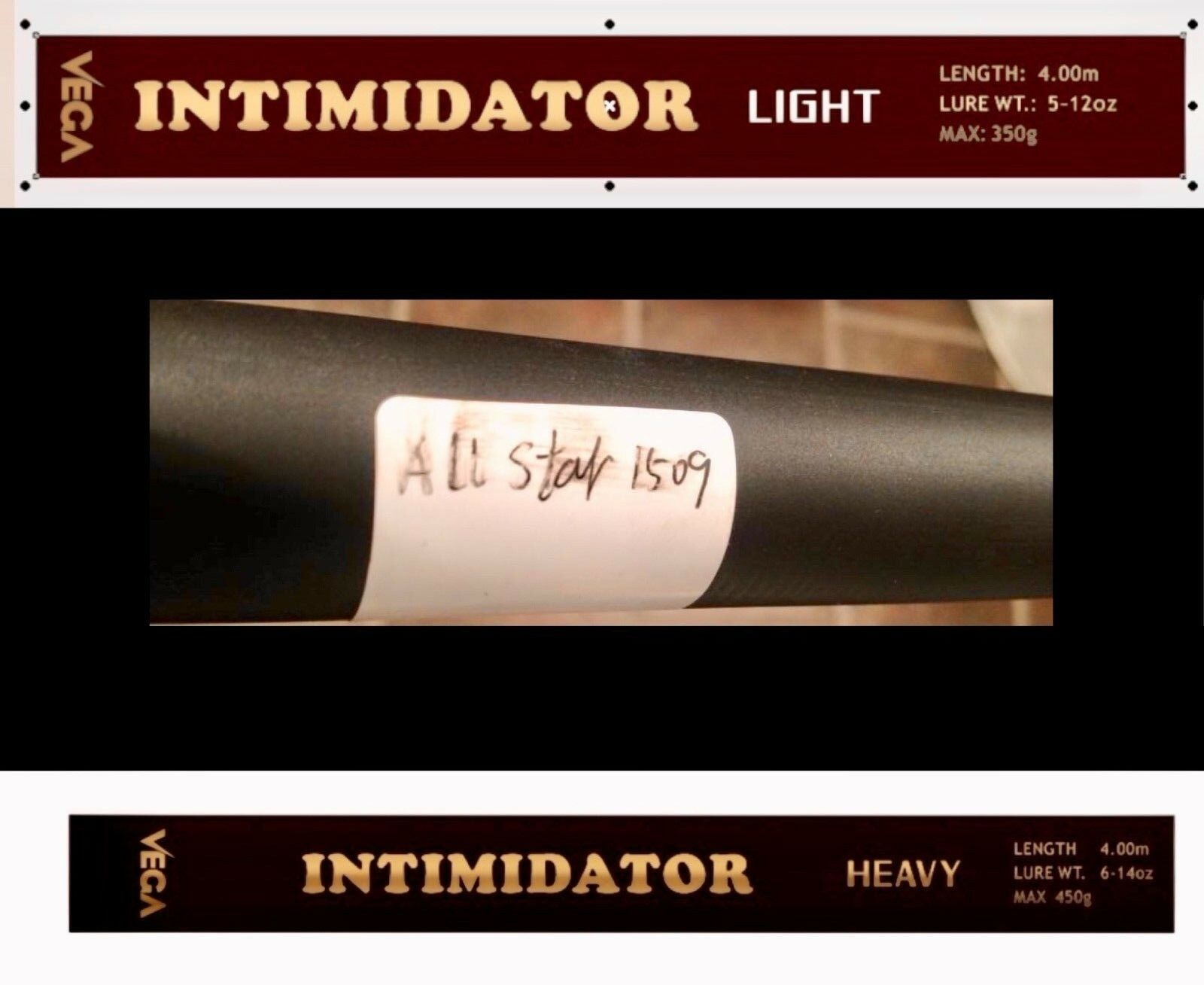 INTIMIDATOR L AND H ROD BLANKS-SPECIAL INTRODUCTORY PRICE