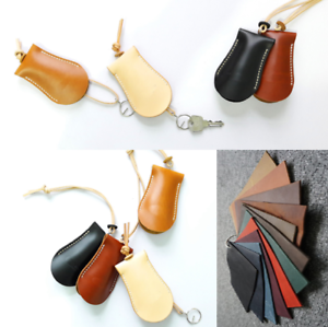 key bag case chain holder Cow Leather Pouch Customize handmade brown black A789