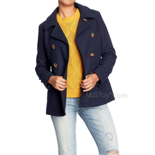 NWT Old Navy Women/'s Classic Wool-Blend Peacoats Coat Winter Jacket 4 Color S-L
