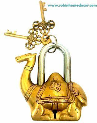 2019 Neuer Stil Antique Museum Antique Vintage Gift Decor Solid Brass Ancient Camel Padlock & Ke Gutes Renommee Auf Der Ganzen Welt