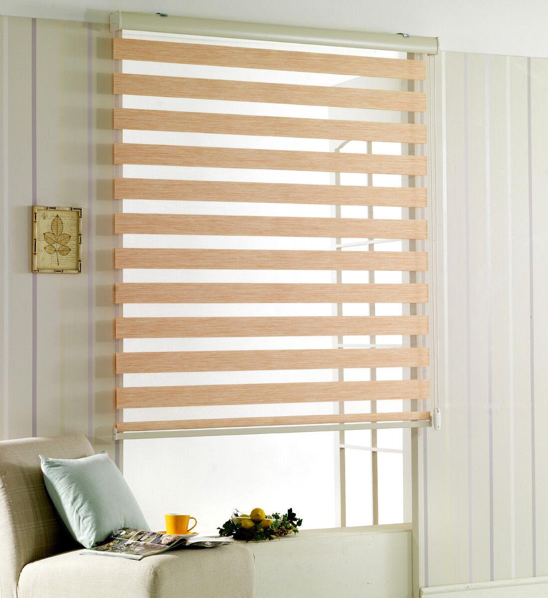 Woodlook Roller Blind Zebra  window  Grünical Curtain horizontal treatment 1