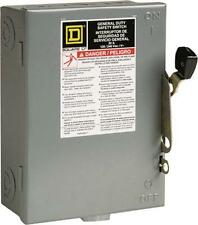 square d d211ncp indoor fusible safety switch 30a for sale online | ebay  ebay
