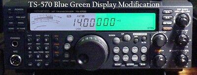 Kenwood TS-570 BLUE GREEN Display Mod 570 570g 570s 570d 570dg kit light  hamkitt | eBay
