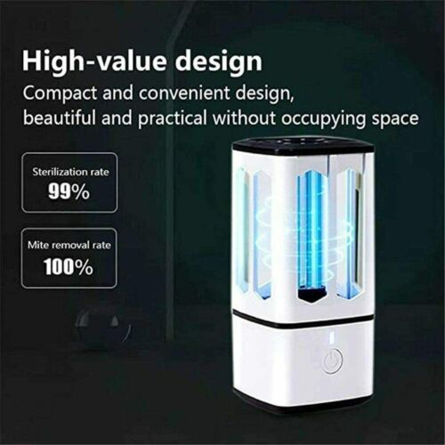 Mini Portable UV Disinfecting Lamp with UVC Ozone USB Rechargeable Sterilization