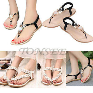 7ab5d91189a 2018 Fashion Women Casual Sandals Shoes Flat Summer Bohemia Open Toe ...
