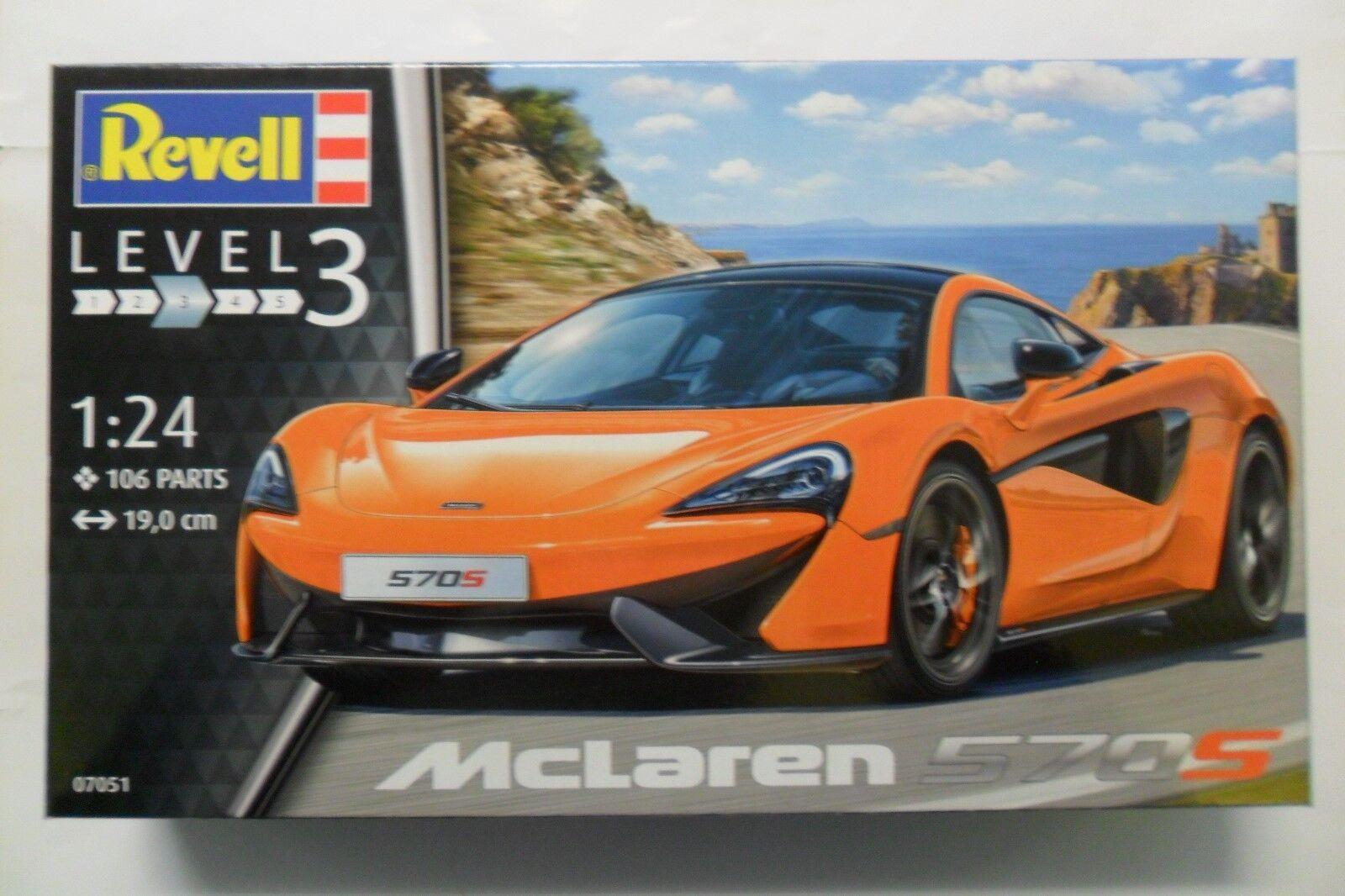 REVELL REVELL REVELL 1 24 KIT AUTO CAR MCLAREN 570S  LUNGHEZZA 19 CM  106 PARTI  ART 07051 499c73