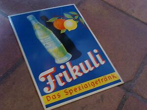 FRIKULI-Das-Spezialgetraenk-Blechschild-50er-60er-Limonade-Schild-UNGEHANGEN