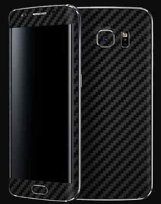3D Textured Carbon Fibre Skin Sticker Vinyl Samsung Galaxy S4 S5 S6 S6 S7 EDGE