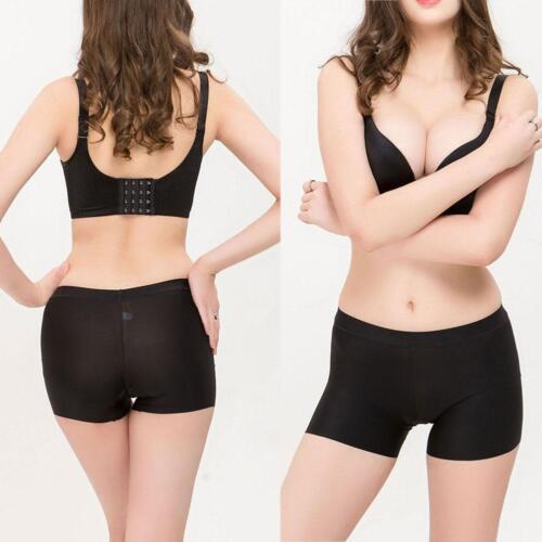 Kurze Sicherheitshose für Damen unter Rock Shorts aus Seide mit kurzen T3W5