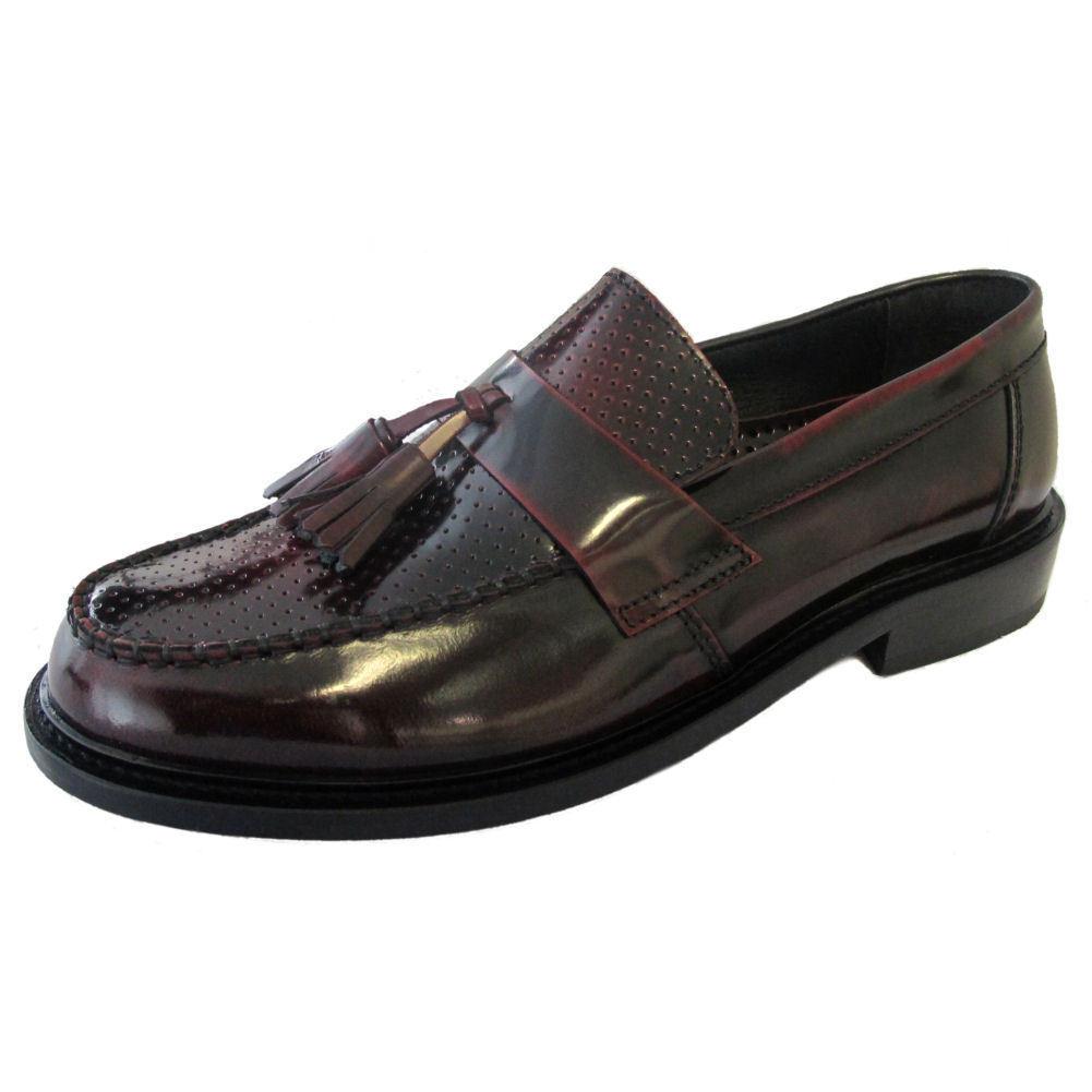 Ikon QUAD Uomini Scarpe Grembiule bordo lucido leather Moccasin Grembiule Scarpe Anteriore Nappa Mocassini d506a7
