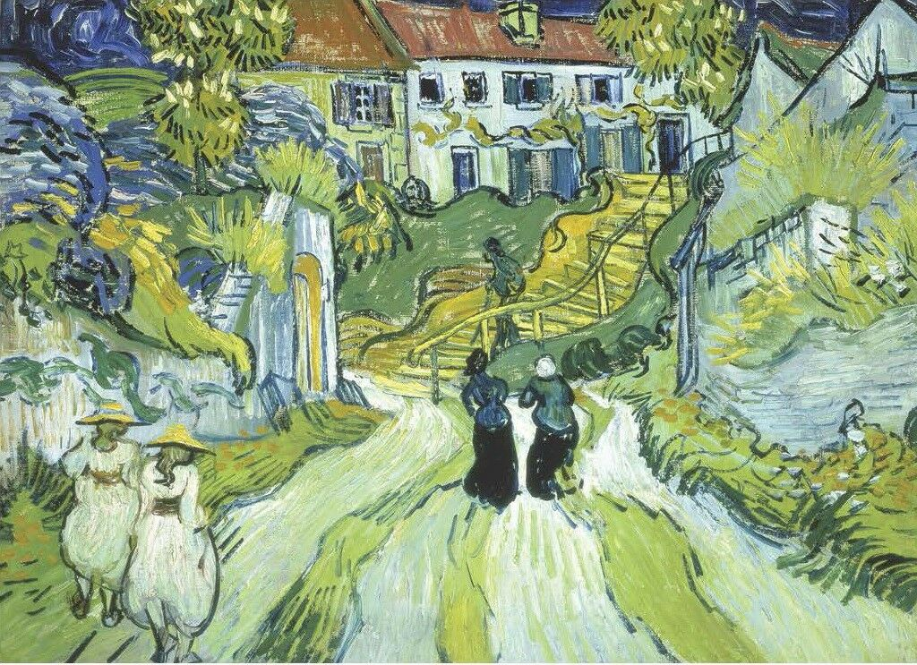Wentworth Stairway at Auvers 250 Piece Vincent van Gogh Wooden Jigsaw Puzzle