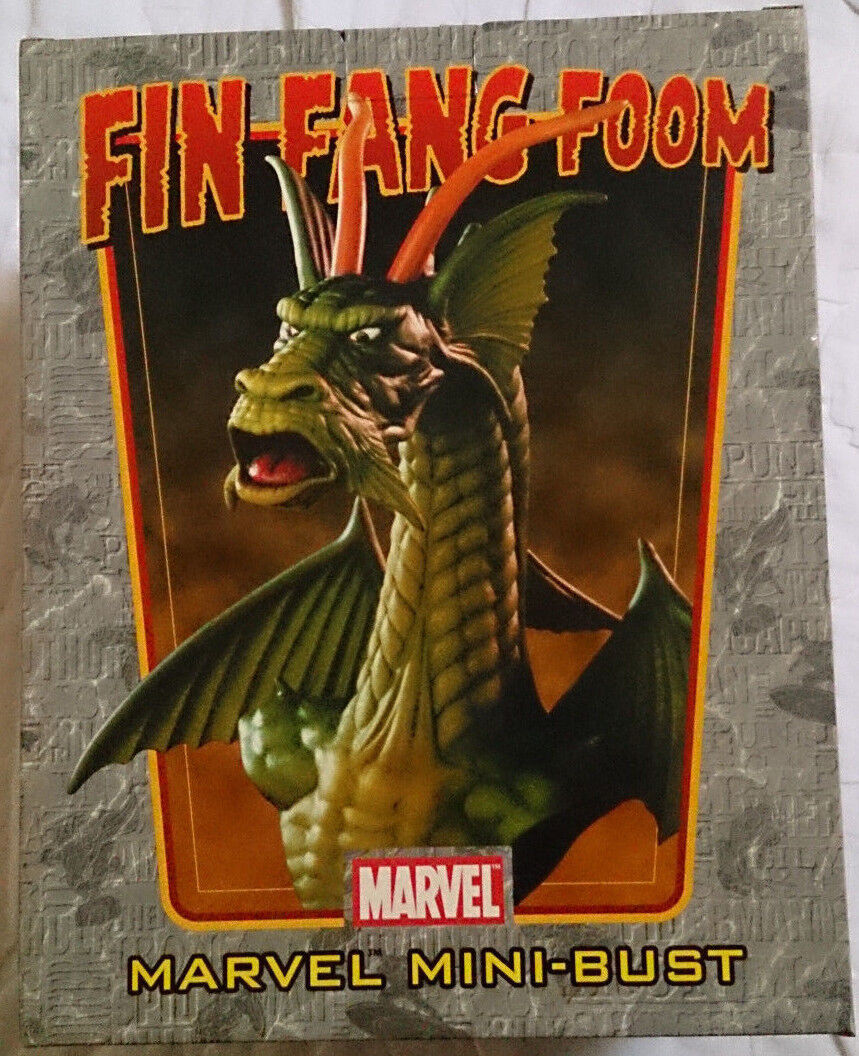 Marvel Comics Bowen Iron Man Fin Fang Foom mini bust statue with box