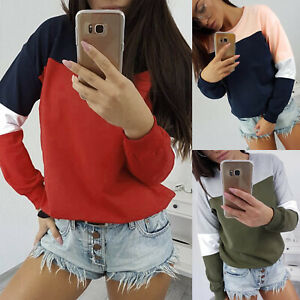 Women-Long-Sleeve-Casual-Pullover-Blouse-Plus-Size-Jumper-Shirt-Tops-Sweatshirt