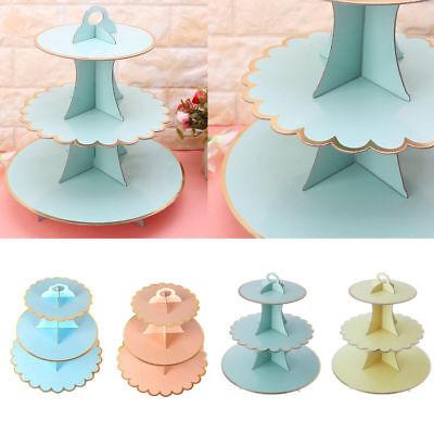 3 Tier Cartone Il Tè Del Pomeriggio Cupcake Stand Supporto Per Torta Per Festa Di Compleanno Evento-