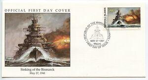W21-4-3-History-of-World-War-II-Marshall-Is-FDC-Sinking-of-Bismarck-1941-5-27