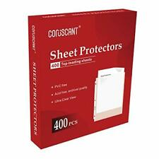 Coruscant 400 Sheet Protectors 3 Hole Lightweight Binder Sleeves Protecting
