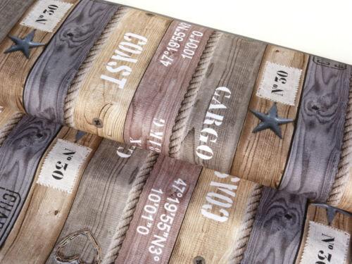Toile Coton référence tissu rideau tissu Planches Bois Corde Tissu maritime 9174