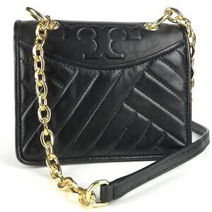 10b7ffde6004 TORY BURCH Alexa Black Leather Mini Shoulder Bag 190041926978 | eBay