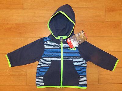The North Face Infant Boys/' Glacier Full Zip Hoodie Fleece Jacket New 6M 24M