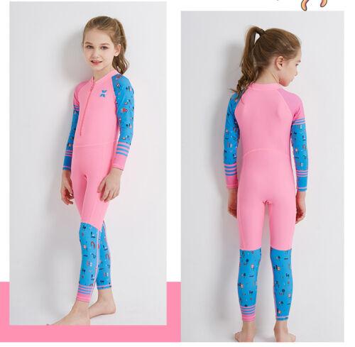 Kids Jumpsuits Swimsuit Children Full Long Sleeve Swimwear Diving Bathing Suit
