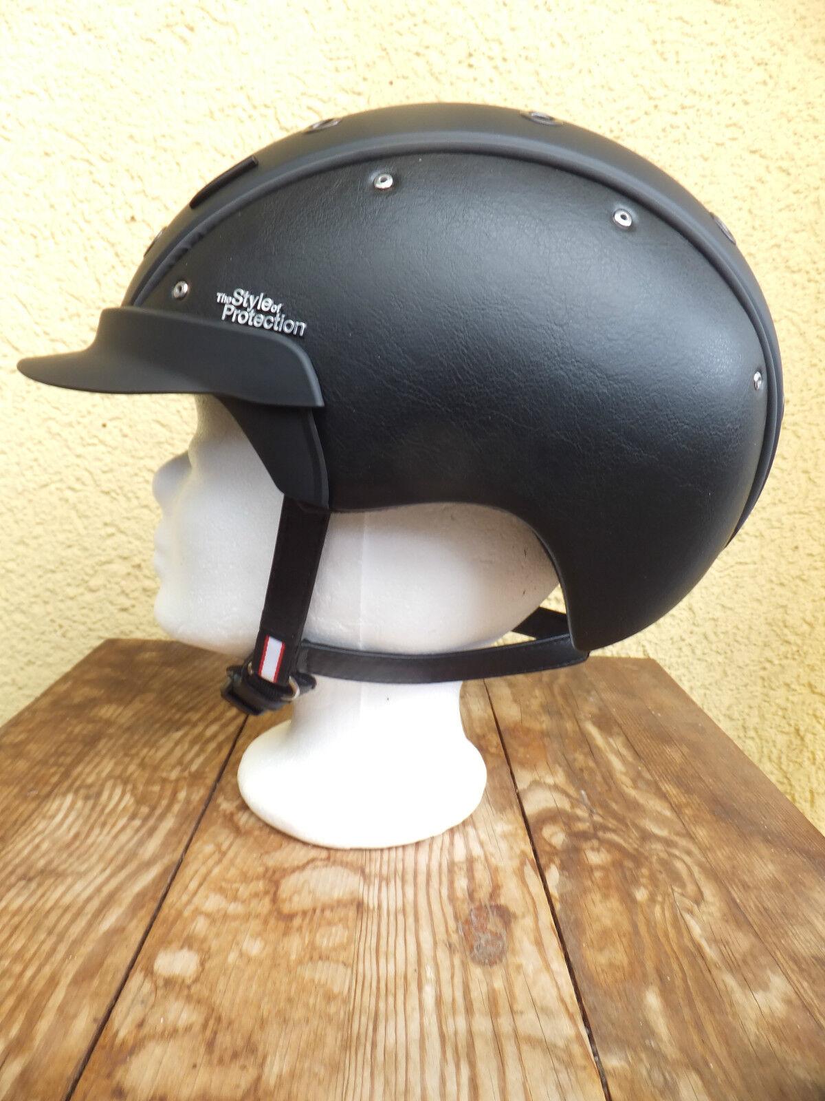 CASCO spirit-6 Reithelm black Glattleder VG1.01 Siegel  Modell 2015