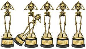 halloween party best costume skeleton 9 award winner trophy fancy