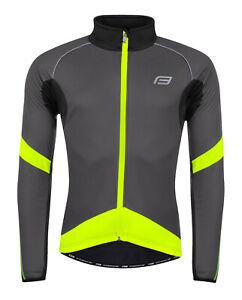 Fahrrad-Jacke-Sportjacke-Fahrradjacke-Warm-Winddicht-Wasserdicht-Grau-Neon-Gelb
