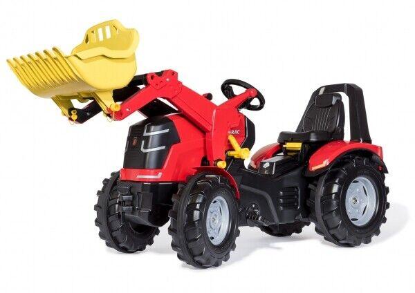 X-Trac Premium Traktor Trettraktor rot mit Frontlader Rolly Toys 651009