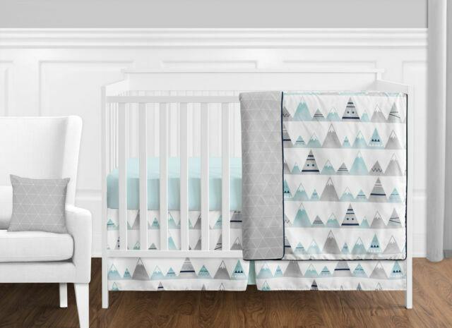 Girls Boys Crib Bedding Set, Girl Aztec Nursery Bedding