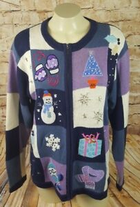 Bp Snowman Holiday Design Tree Cute Size Ugly M Sweater Christmas Women 7wBqA