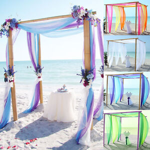 5m10m sheer organza fabric beach wedding ceremony bouquet arch image is loading 5m 10m sheer organza fabric beach wedding ceremony junglespirit Choice Image