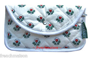 Souleiado-Real-French-Country-Provence-Quilted-Heart-Floral-Zipper-WALLET-New