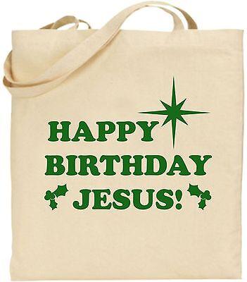 Herzlichen Gläckwunsch Zum Geburtstag Jesus Groß Baumwolle Einkaufstasche
