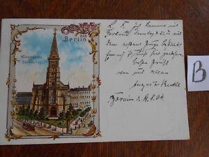 Consciencieux Carte Postale Vue Carte Berlin Lithographie-afficher Le Titre D'origine