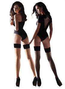 Plain-Top-Sheer-Beige-Black-Hold-Ups-Various-Colours-Gabriella-Lovia-Hosier