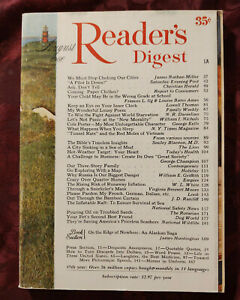 Readers Digest August 1966 Richard Armstrong Cole Porter Lowell Thomas
