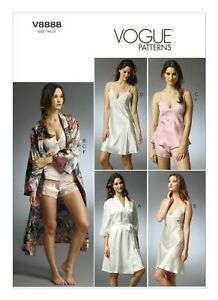 Vogue-Sewing-Pattern-V8888-Lingerie-Robe-Camisole-Slip-amp-Panties-patterns