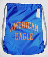 American Eagle Royal Blue Drawstring Backpack Bag