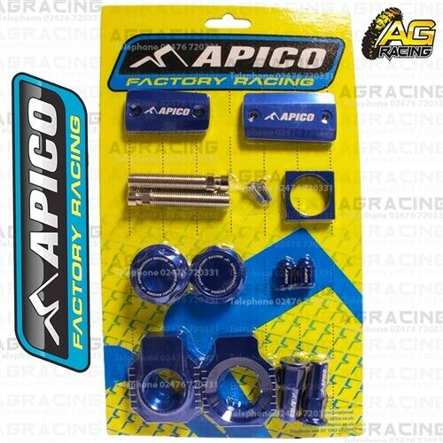 Apico Factory Blue Bling Pack Covers Plug Caps Blocks For Husqvarna TE 300I 2019