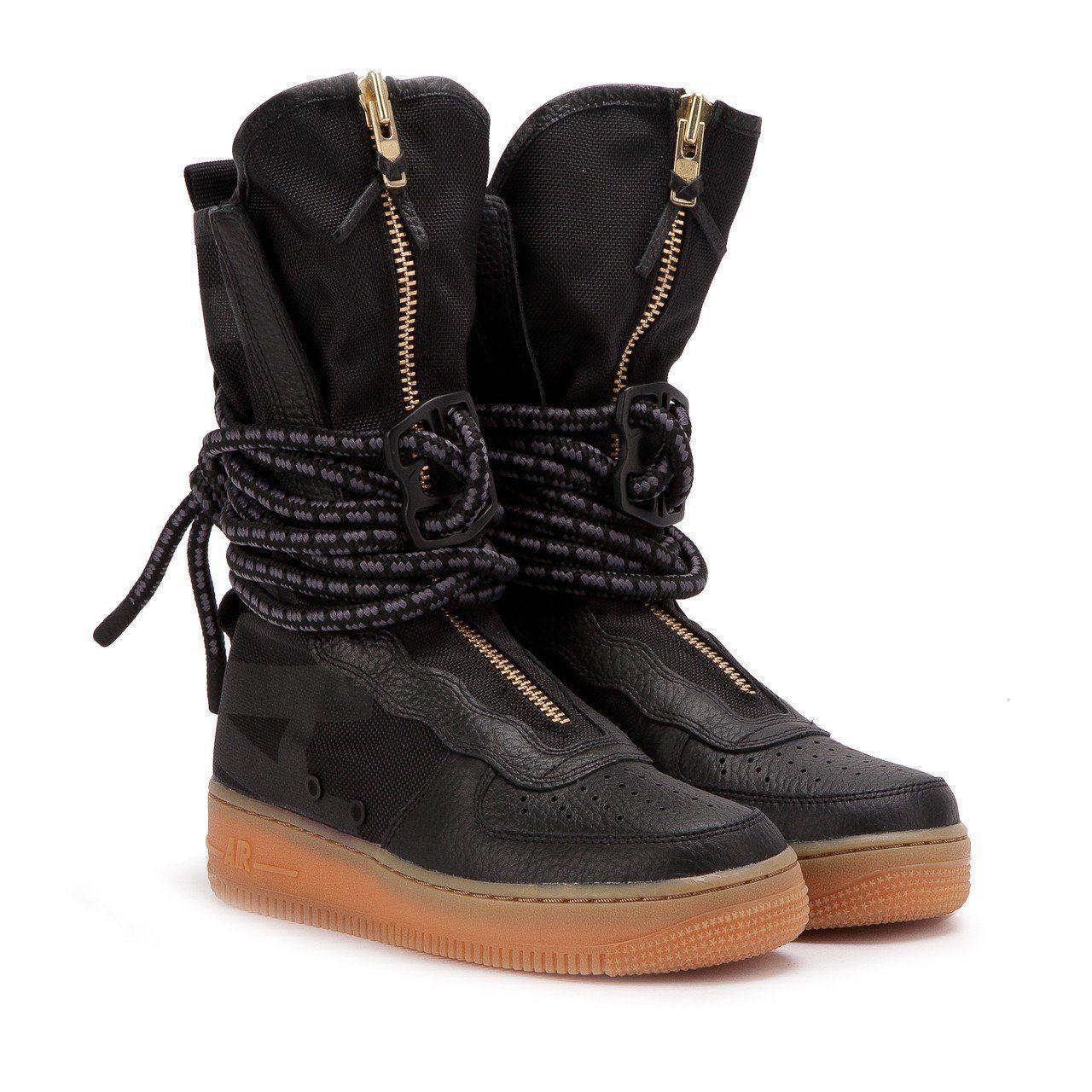 Nike Special Field SF Air Force 1 One High Black 11.5 Womens AA3965 001 RARE