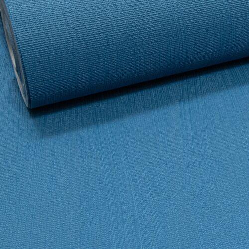 Rasch Plain Bleu Foncé Texturé Vinyle Épais Qualité Coller le mur Papier Peint